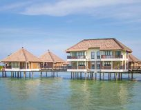 Holiday water chalets Stock Photo