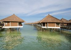 Holiday water chalets Stock Photography