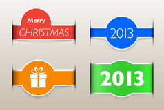Holiday web design elements like paper inset Royalty Free Stock Images