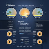 Holiday Website Template Stock Images