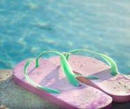 Holiday weekend fun beside swimming pool Royalty Free Stock Image