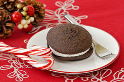 Holiday whoopie pie Royalty Free Stock Photography