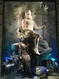 Holiday window display at Bergdorf Goodman, NYC Stock Photo