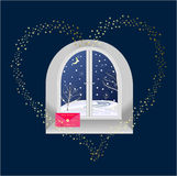 Holiday window Stock Images