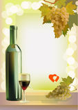 Holiday. wine. Valentines Day. Royalty Free Stock Photos