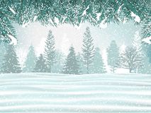 Holiday winter background. Beautiful winter landscape. stock photos