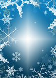 Holiday Winter background snowflakes Royalty Free Stock Images
