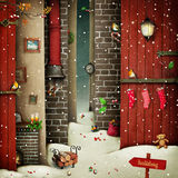 Holiday. Winter Fantasy holiday background for Christmas or New year with decorative elements. Computer graphics Royalty Free Stock Image
