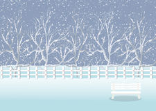 Holiday winter landscape background with tree Stock Photography
