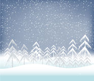 Holiday winter landscape background with tree Royalty Free Stock Photo