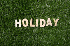 Holiday Wooden Sign On Grass Stock Images