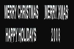 Holiday words. Holiday / christmas / new year dripping text Stock Photography