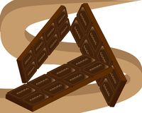 Holiday world day of chocolate and sweets royalty free illustration