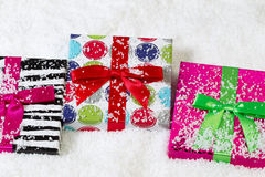 Holiday Wrapped Gifts for Christmas Stock Images