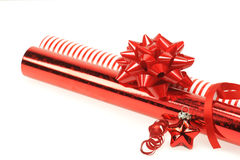 Holiday wrapping paper and ribbons Stock Photography