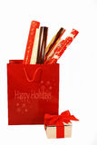 Holiday wrappings Stock Images