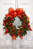 Holiday Wreath. Artistic display of a holiday wreath stock illustration