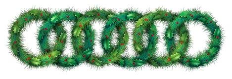 Holiday Wreath Border Pattern Stock Photo