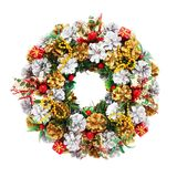 Holiday Wreath (clipping path). Holiday wreath on a white background with clipping path for designers Royalty Free Stock Photo