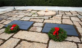 Holiday Wreaths Kennedy Gravesites Arlington VA Royalty Free Stock Image
