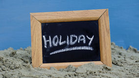 Holiday written Royalty Free Stock Image