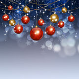 Holiday Xmas Balls Winter Background Stock Photography