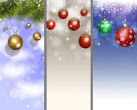 Holiday Xmas Banners Royalty Free Stock Photo