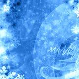Holiday xmas blue background Royalty Free Stock Photography