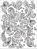 Holiday zentangle Royalty Free Stock Photo