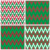 Holiday Zigzag Patterns Stock Images
