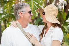 Holidaying couple smiling at each other Royalty Free Stock Photo