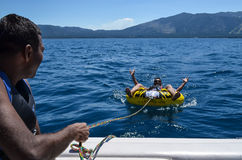 Holidaying on Lake Tahoe California USA Royalty Free Stock Photo
