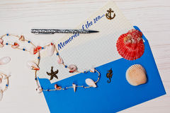 Holidaymaker letter concept Royalty Free Stock Images
