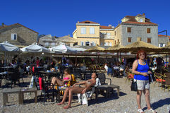Holidaymakers on Budva beach,Montenegro Royalty Free Stock Image