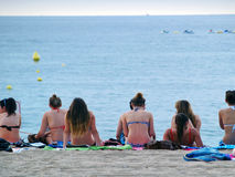 Holidaymakers In Lloret De Mar Stock Photo