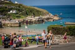 Holidaymakers in Newquay Royalty Free Stock Photos