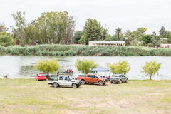 Holidaymakers at the Riet River Stock Photography