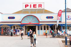 Holidaymakers Teignmouth pier Devon England UK Stock Photography