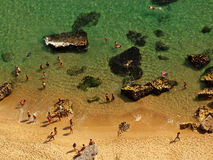 Holidays. At Nazaré Beach, center Portugal Royalty Free Stock Photos