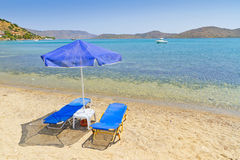 Holidays at Aegean Sea. Of Crete, Greece Stock Photography