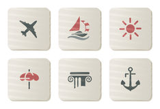 Free Holidays And Treval Icons | Cardboard Series Stock Photo - 7857490