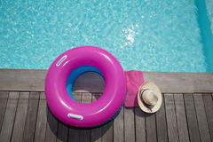 For holidays around the pool, a hat Royalty Free Stock Photo