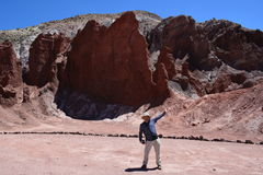 Holidays in Atacama desert in Chile Stock Photos