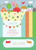 Holidays background for kids for birthday or  kindergarten poste Stock Images