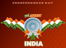 Holidays background with orange, white and  green stars for fifteenth of August, Indian Independence Day Stock Photos