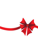 Holidays background with ribbon and bow Stock Images