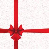 Holidays background with ribbon and bow Stock Photo