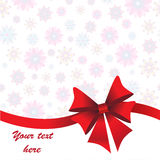 Holidays background with ribbon and bow Stock Image