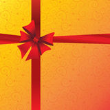 Holidays background with ribbon and bow Stock Photos