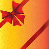 Holidays background with ribbon and bow Royalty Free Stock Photography